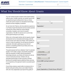 AWE Learning Grants Writing Services