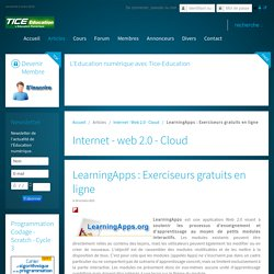 LearningApps : Exerciseurs gratuits en ligne