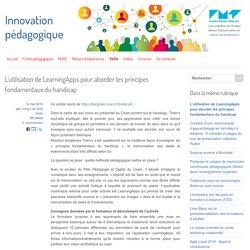 L'utilisation de LearningApps pour aborder les principes fondamentaux du handicap