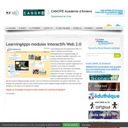 CDDP de l'Oise - LearningApps modules interactifs Web 2.0