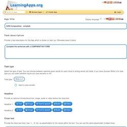 LearningApps - interaktive und multimediale Lernbausteine für Ihren Unterricht
