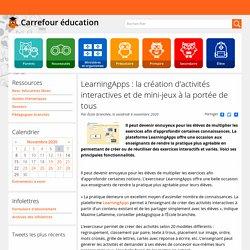 LearningApps : la création d'activités interactives et de mini-jeux à la portée de tous