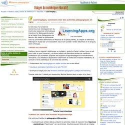 LearningApps, comment créer des activités pédagogiques en ligne- Usages du numérique éducatif