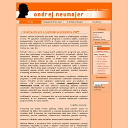 Doporučení pro e-learningové programy DVPP - Ondřej Neumajer - domovská stránka