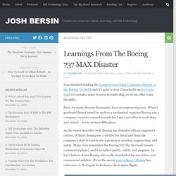 Learnings From The Boeing 737 MAX Disaster
