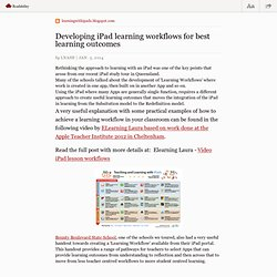 Developing iPad learning workflows for best learning outcomes — learningwithipads.blogspot