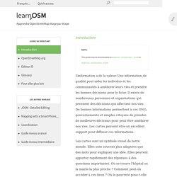 apprendre OSM étape par étape