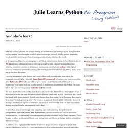 Julie Learns Python