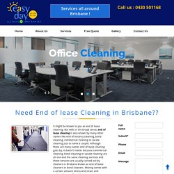 End of Lease Cleaning Brisbane. Bond Cleaning