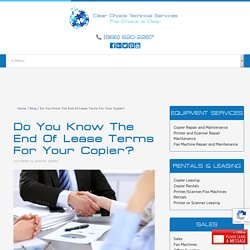 Do You Know The End Of Lease Terms For Your Copier?