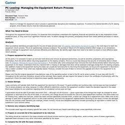 PC Leasing: Managing the Equipment Return Process