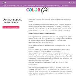 Lämna tillbaka leasingbilen - ColorGlo - Reparation av Läder
