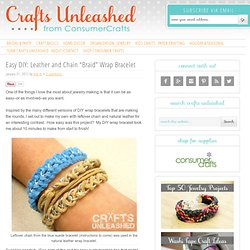 "Easy DIY: Leather and Chain ""Braid"" Wrap Bracelet"
