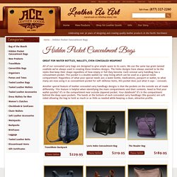 Concealed Carry Handbags For Women's - Ace Leather Goods