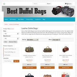 Online's Best Leather Duffel Bags For Men