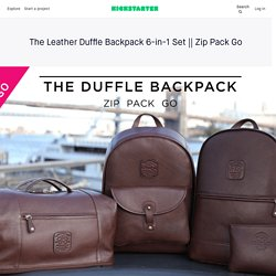 The Leather Duffle Backpack 6-in-1 Set