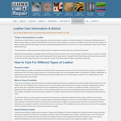 Leather Care Information