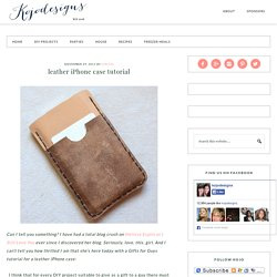 leather iPhone case tutorial