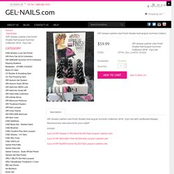 Buy Online Shades Nail lacquer Summer Collection 2018