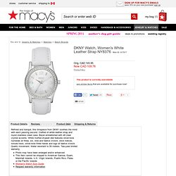 DKNY Watch, Women's White Leather Strap NY8376 - DKNY - Featured Brands - All Watches - Jewelry & Watches