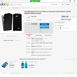 Leather BAG Flip Style FOR LG L70 Black Case Pocket Cover Bumper Mobile Phone
