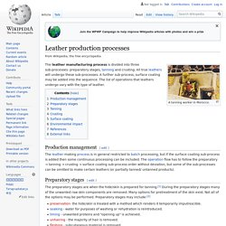Leather production processes