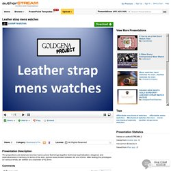 Leather Strap Mens Watches