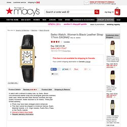 Seiko Watch, Women's Black Leather Strap SXGN42 - Sale & Clearance - All Watches - Jewelry & Watches