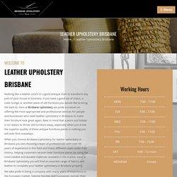 Skilled Leather Upholstery Brisbane