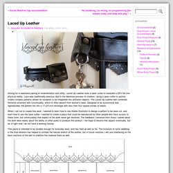Laced Up Leather « Wearable Technology 2 (2012)