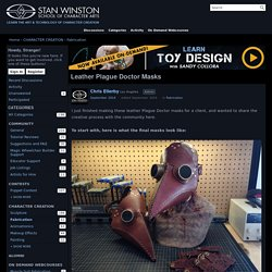 Leather Plague Doctor Masks — Stan Winston School of Character Arts Forums