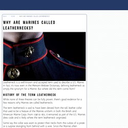 Why Are Marines Called Leathernecks? - Our Military