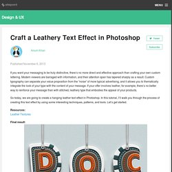 How to craft a leathery text effect in Photoshop - The Creative Edge