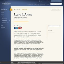 Leave It Alone - New Era Jan. 1995 - new-era