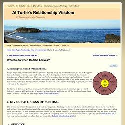Al Turtle's Relationship Wisdom