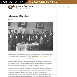 » Lebanese Migration