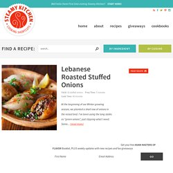 Lebanese Roasted Stuffed Onions