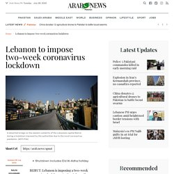 Lebanon to impose two-week coronavirus lockdown