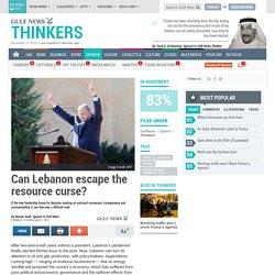 Can Lebanon escape the resource curse?