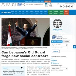 Can Lebanon's Old Guard forge new social contract?