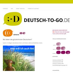 Wo leben die glücklichsten Deutschen?