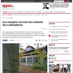 Les comptes secrets des enfants des Lebensborn - International