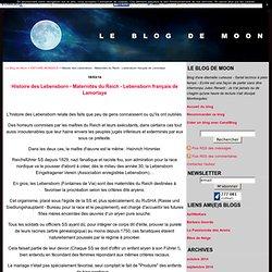 Histoire des Lebensborn - Maternités du Reich - Lebensborn français de Lamorlaye - Le Blog de Moon