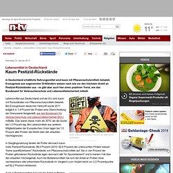 NTV 22/01/13 Lebensmittel in DeutschlandKaum Pestizid-Rückstände