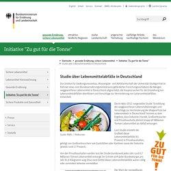 BUNDESMINISTERIUM FUR ERNAHRUNG UND LANDWIRTSCHAFT - 2012 - Studie über Lebensmittelabfälle in Deutschland