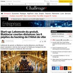 Start-up: Leboncoin du gratuit, Blablacar courtes distances: les 6 pépites du hacking de l'Hôtel de ville