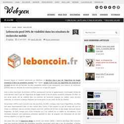 Leboncoin perd 34% de visibilité dans les résultats de recherche mobile
