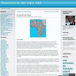 La lección de Túnez « Democracia del siglo XXI