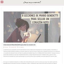 11 lecciones de Mario Benedetti para sellar un corazón roto