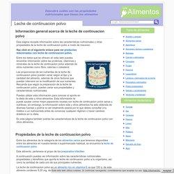 Leche de continuacion polvo - Propiedades de la leche de continuacion polvo
